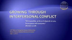 10thMI2 Dinner - Growing thru Interpersonal Conflict