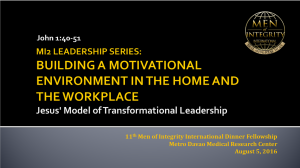 11th MI2 Dinner - Building A Motivational Environment in the Home and Workplace