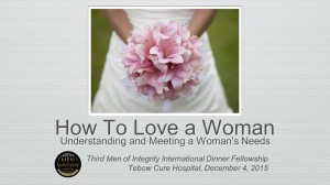 3rd MI2 Dinner - How To Love A Woman