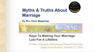 5th Mi2 Dinner - Myths & Truths About Marriage