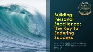 9th MI2 Dinner - Building Personal Excellence